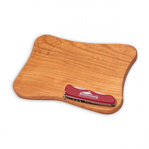 "Gift set ""wooden plate with Victorinox-Knife"""
